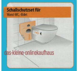 Schallschutzset für Ihr Wand WC + Bidet (918#