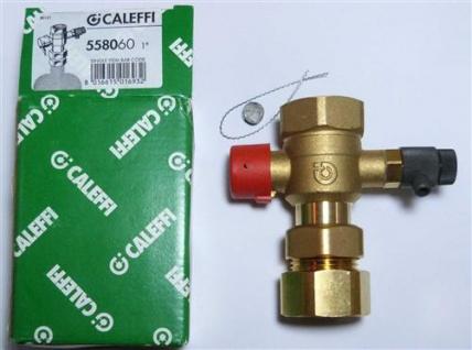 "Caleffi Kappenventil / Schnellschlußventil mit Entl. 1"" / Caleffi 558060 (7509#"