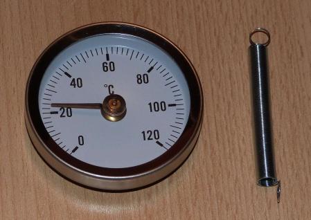 Anlegethermometer Bimetallthermometer Ø65mm 0 bis 120°C (9956#