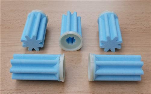 Heizölfilter Siku (50ym) sternform kurz / blau / 5 Stück (7736#
