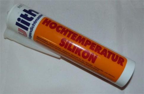 Ulith Hochtemperatur Silikon / Fugendichtmasse / 300 ml / rot (7539#