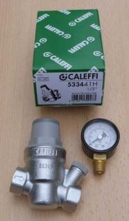 "Caleffi HT Druckminderer 1/2"" + Manometer (533441H) radial 0-10bar (8943#"