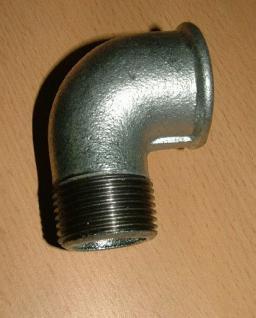 Winkel 90 ° Fitting-Verzinkt IG / AG