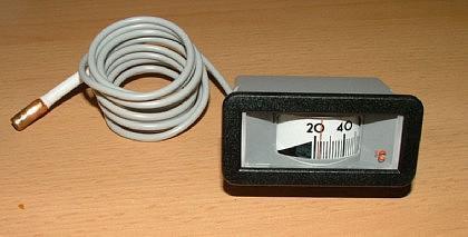 Rechteckiges Kapillarthermometer 31 x 64 mm - Vorschau