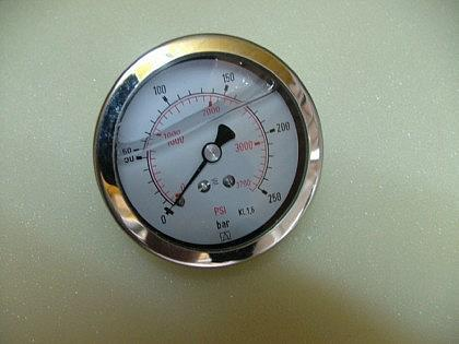 Glyzerin - Manometer nach EN 837-1 / Axial - Vorschau 1