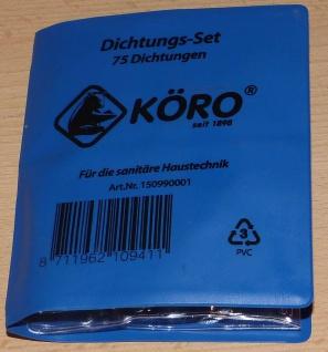 Dichtungs - Set 75 Stk. für sanitäre Haustechnik Hersteller KÖRO® (9775# - Vorschau
