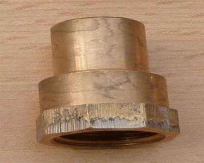 """Rotguss ÜG-Muffe mit Nippel, 18 mm x 1/2"""" IG (10735#"""