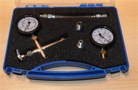 Pumpenprüfkoffer blau komplett Manometer Vakuumeter mit Glyzerin(6689# - Vorschau