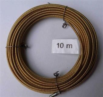 Einziehspirale 10 Meter 4 fach gedrehter Stahldraht gelb (5782#