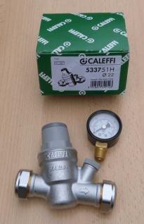 Caleffi HT Druckminderer 22mm + Manometer (533751H) radial 0-10bar (8946#