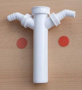 Verstellrohr / Tauchrohr Kunststoff NW 40 x 200 mm 2x Schlauchanschluß (8598# - Vorschau