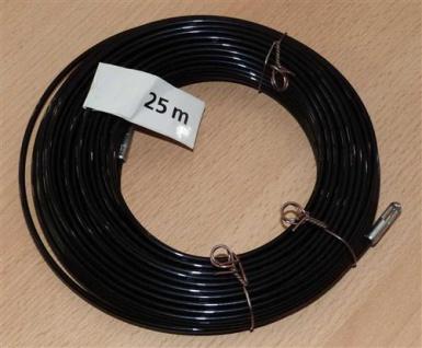 Kabeleinziehdraht 25m / Kabeleinziehhilfe Nylon schwarz (6733#
