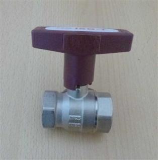 "Isolierkugelhahn ISO-T 1"" DN 25 roter Griff / HS (6760#"