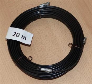Kabeleinziehdraht 20m / Kabeleinziehhilfe Nylon schwarz (6732#
