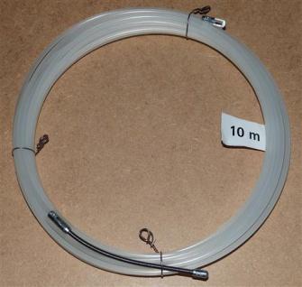 Einziehdraht Nylon 10m weiß / Kabeleinziehhilfe stark 4mm (6907# - Vorschau