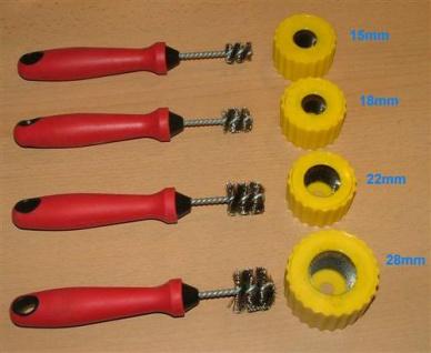 Putzbürstenset INOX 15/18/22/28mm Muffe + Rohr (5111#