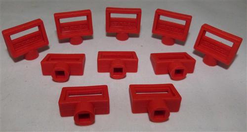 Entlüftungsschlüssel Simplex 5mm Kunststoff rot 10 Stück (7435#