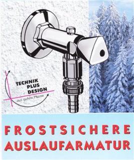 """Frostsichere Außenwandarmatur 1/2"""" für 250-475mm Wandstärke (8211#"""