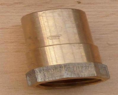 """Rotguss ÜG-Muffe mit Nippel, 22 mm x 1/2"""" IG (10737#"""