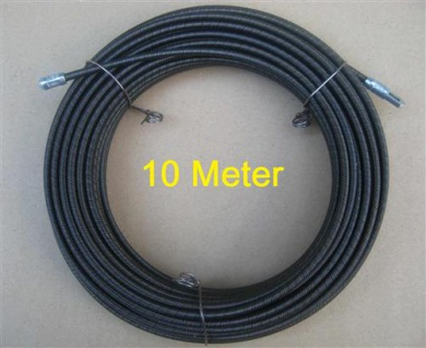 Kabeleinziehdraht = Stahldraht 10m / Einziehdraht / Einziehhilfe(5765#