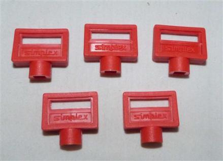 Entlüftungsschlüssel Simplex 5mm Kunststoff rot 5 Stück (7434#
