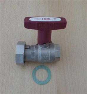 "Isolierpumpenkugelhahn HS ISO-T 1"" DN 25 ohne Rückschlagventil (6757#"