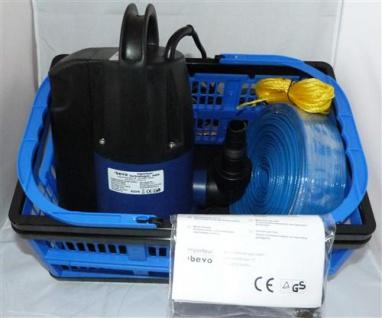 Flutbox / Tauchpumpenset mit praktischer Transportbox 0, 55kw (7291#