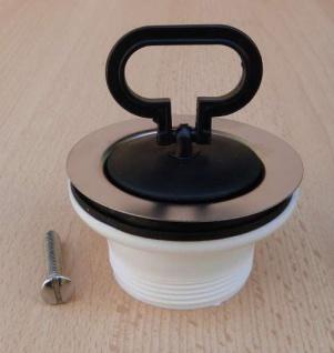 """Ablaufventil 1 1/2"""" x 70mm mit Stopfen / Kunststoff (9635# - Vorschau"""