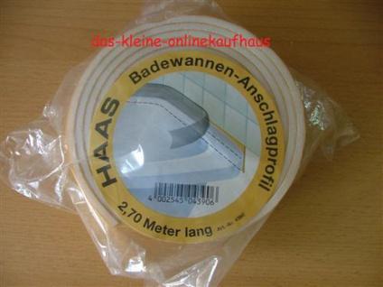Badewannen Anschlagprofil 2700mm x 50mm x 4mm / HAAS (959#