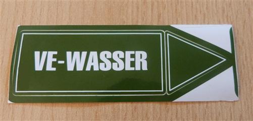 """Aufkleber """" VE-Wasser"""" Größe 94 x 30 mm 1 Stück (7175# - Vorschau"""