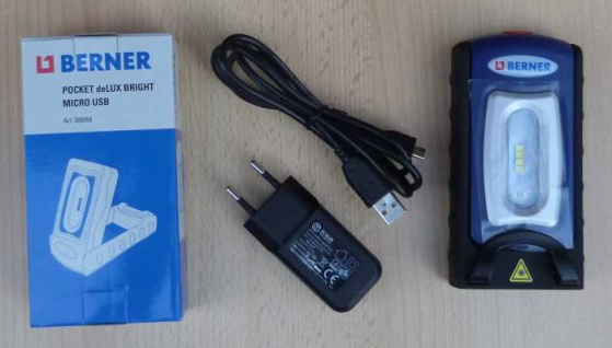 BERNER Neu Pocket Delux Bright Micro USB inkl. Ladestecker u. Kabel (8515#