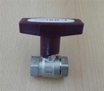 "Isolierkugelhahn ISO-T 3/4"" DN 20 roter Griff / HS (6759#"