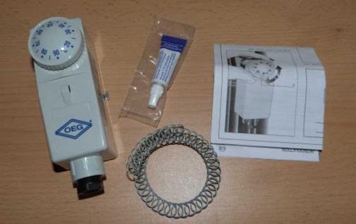 Anlegethermostat BRC-A Außenverstellung OEG, 20-90°C /+ Wärmeleitpaste (8624#