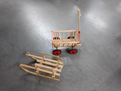 Kleiner Handwagen oder kleiner Schlitten => Weihnachtsgeschenk Neuware