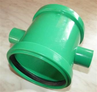 Doppelschiebemuffe Plus DN 110 + 18 mm Farbe grün (7043#