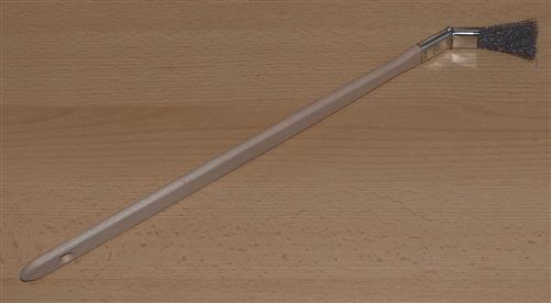 """Reinigungspinsel """" Muldengrimmel"""" 1"""" mit 25mm Edelstahl, gebogen 1 Stück (6887#"""