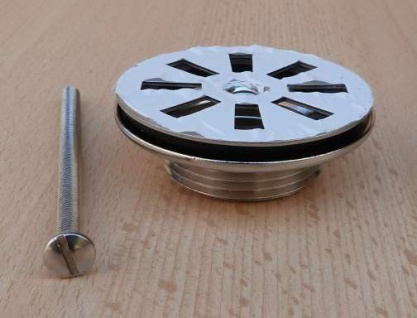 """Universalventil mit Siebplatte Edelstahl 1 1/4"""" x 60 mm (9634#"""