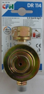 Propangasdruckregler CFH DR 114 2, 5 bar / 6kg/h (7423# - Vorschau