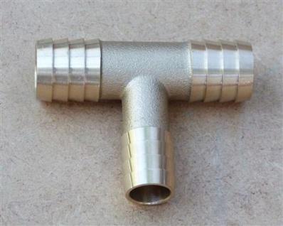 """Messingverbindungsröhrchen T-Stück red.3/4"""" x5/8"""" x3/4"""" Schlauch (10221#"""