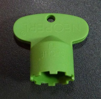 Perlatorschlüssel® Serviceschlüssel Caché TJ grün passend für 18, 5x1 (6778#