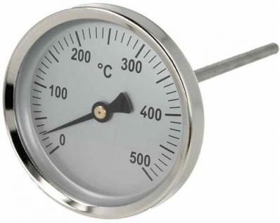 Rauchgasthermometer Ø 80mm / 0-500°C / 100mm Länge (10693# - Vorschau