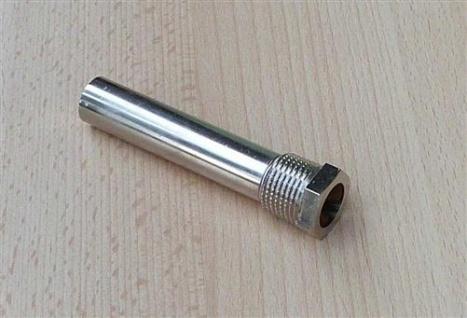 """Tauchhülse Messing vernickelt 1/2"""" AG x L= 90 x Innen Ø=14, 9mm (8006# - Vorschau"""