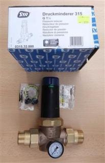 """Druckminderer SYR 315 Rotguss 1 1/4"""" mit Ausgangsdruckanzeige (8095# - Vorschau"""