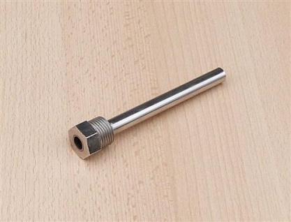 "Tauchhülse Messing vernickelt 1/2"" AG x L=120 x Innen Ø = 9, 5mm (8022#"