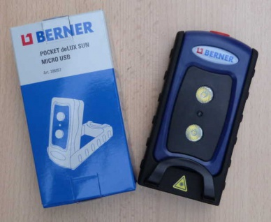 BERNER Pocket Delux * SUN * Micro USB / SUPER LED Leuchte (8675#