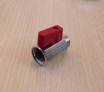 """Kugelhahn Mini 3/8"""" IGxAG roter, kurzer Griff (9059# - Vorschau"""