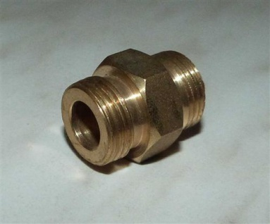 "Doppelnippel 3/4"" AG x 3/4"" AG / Messing / breite Dichtfläche (7674#"