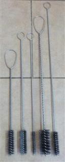 Stielbürsten - Set 2 aus Stahl kleine Ausführung 5 Stück (7028#