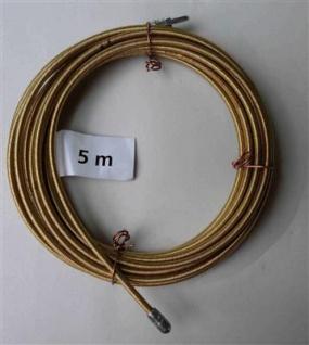 Einziehspirale 5 Meter 4 fach gedrehter Stahldraht gelb (5781#
