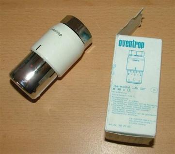 Design Thermostatkopf Oventrop Uni Weiß / Chrom super Qualität (5281#
